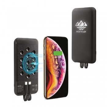 8000 mAh Siyah Wireless Powerbank