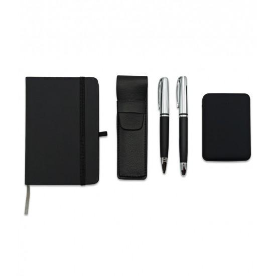 İki Kalemli Ajandalı Powerbank Set