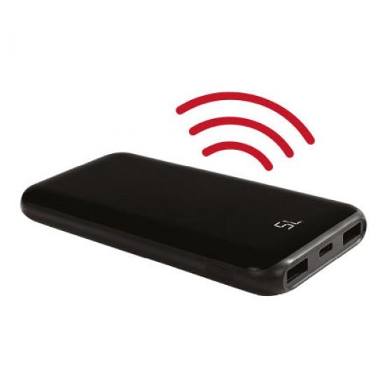 8000 mAh Kablosuz lcd Ekranlı Samanyolu Powerbank
